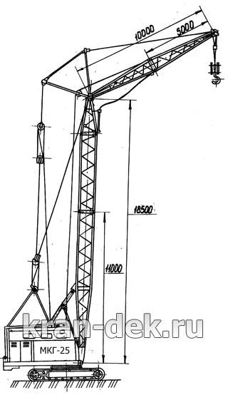 МКГ-25.01: башенно-стреловое