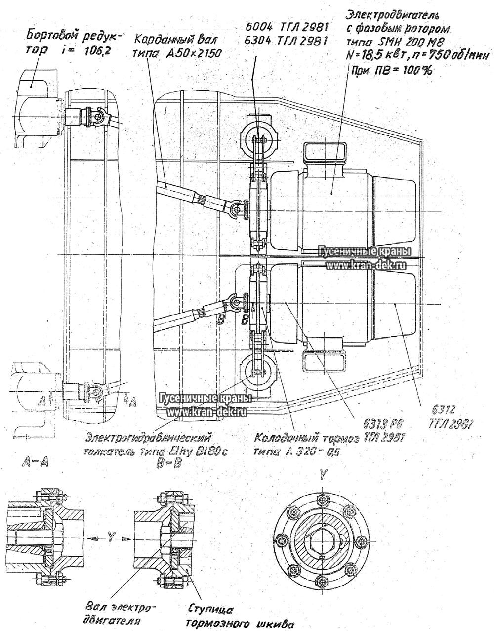 схема смазки крана рдк-250